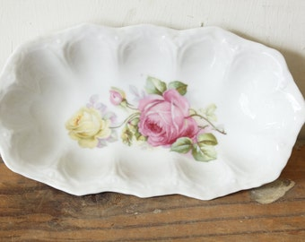 Antique Porcelain China Celery Dish Germany