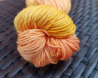 Ginger Peach 2: 100g hand painted superfine merino/nylon sock yarn
