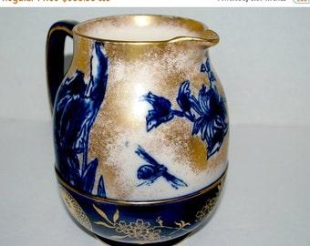 Christmas sale Vintage Doulton  pitcher  antique Doulton Iris  jug  burslem jug circa late  1800's   wedding gift