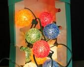 Reserved for Jen Mid Century Vintage GE Lighted Ice Christmas Tree Lights // Vintage Light Strand