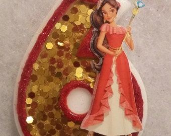 Disney Princess Elena of Avalor  Birthday Number  Candle