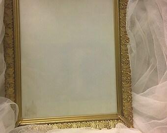 vintage brass gold filigree picture frame, collection vintage wedding gold picture frame, shabby chic frames, chalkboard gold frames