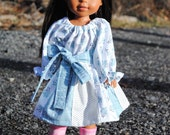 "Handmade doll dress available in 14"" , 15"" , or 18"""