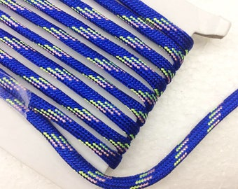 1.1 Yards (1 meter) blue  Bracelet cord,  Decorative Cord, braided cords, Parachute Round Cord, Colorful cord, parcord 4mm wide