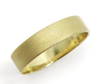Gold classic wedding band- 14k yellow gold  5mm men women wedding ring, hes and hers ring. wedding band, yellow gold ring (gr9268-983).