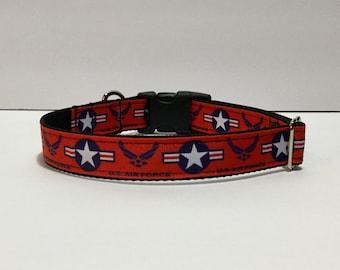 Air Force Inspired Custom Dog Collar