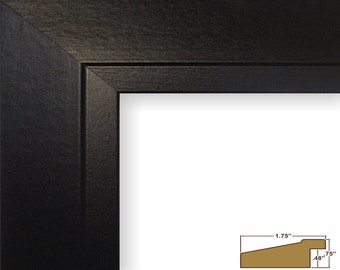 "Craig Frames, 16x20 Inch Modern Black Satin Picture Frame, Balla, 1.75"" (221067041620)"