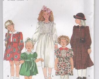 1990's Sewing Pattern - Simplicity 9160 Girls dress, Size 5-6X, Uncut, Factory Folded