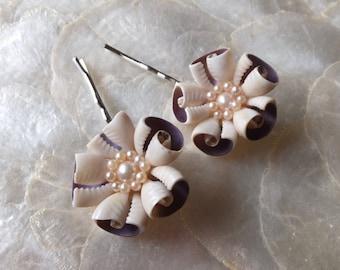 Decorative Hair Pins Shell Flower Bobby Pins Barrettes Beachy Hairpins