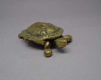 Brass tortoise trinket holder