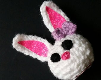Crochet Bunny Rabbit Hair Clip