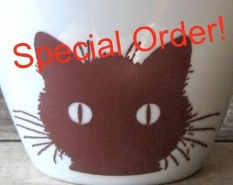 RESERVED for KP, For Fox Sake Mug, Snarky Humor Mug, Fox and Owl, 14 oz Coffee Cup, Porcelain Tea Mug, Coffee Mug, Funny, For Fucks Sake