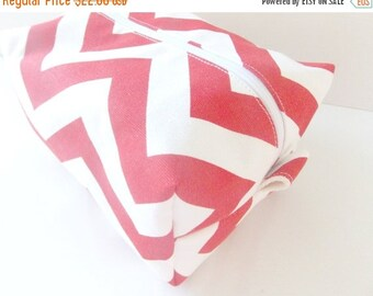 HURRY PRESIDENTS DAY Sale Red Chevron Makeup Bag - Make up Bag  - Cosmetic Pouch -  Lunch Bag - Wet Bag - Waterproof Bag