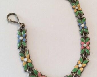Art Nouveau Enamel Bracelet, Arts & Crafts Movement, Bernard Instone Silversmith, Vintage Jewelry SPRING SALE
