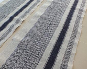 6.1 yards, Hmong  hemp Vintage fabrics and  textiles - Handwoven hemp-ethnic textiles from thailand