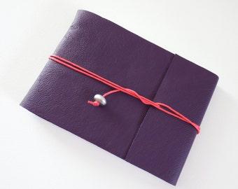 Artists Sketchbook, Purple Leather Sketchbook, Landscape Sketchbook, A5 Sketchbook, Hand bound Sketchbook, Hand Bound Journal, Bullet Journa