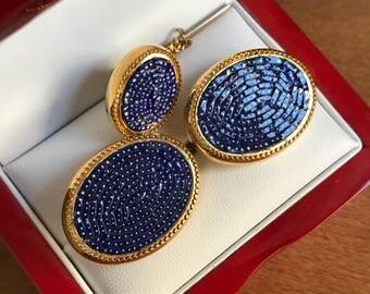 RARE Original Vintage SWANK Italian Mini-Mosaic Cufflinks