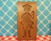 Man Wood Cookie Mold - Dillon Carving