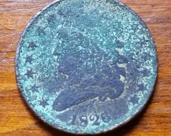 1826 Original Half Cent Coin