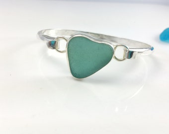 Classic Sea glass Bracelet, Sterling Silver, Classic Style, Sea Glass
