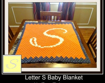 Letter S, Baby Blanket, C2C Graph, & Written Word Chart