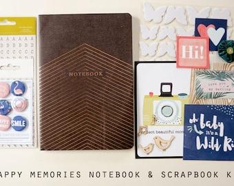 Happy Memories Notebook and Scrapbook Kit