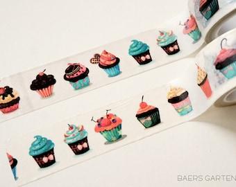 Washi Tape Cute Cupackes- Watercolor Washi Tape Cupcakes
