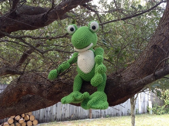 Crocheted Friendly Frog