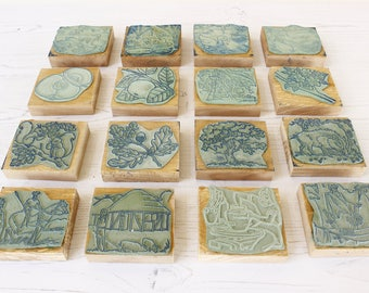 LOT of French Vintage Educational Rubber Stamps....FOUR Boxes of stamps...see listing for details