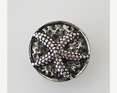 1 PC - 12MM Starfish Ocean Silver Charm for Candy Snap Jewelry KB6655 Cc0487