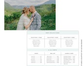 INSTANT DOWNLOAD - 5x7 Pricing Guide Photoshop Template - e1454