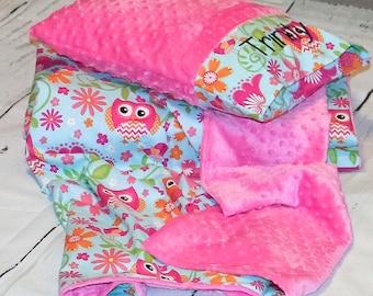 Nap Mat - Nap Mat for girls - Kindermat Cover - Personalized Nap Mat Cover - Toddler Nap Mat - Preschool Supplies - Owl nursery - Owl Decor