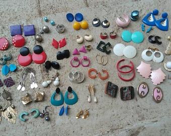 Destash of Worn Vintage Earrings to Upcycle