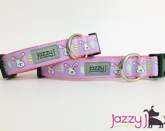 Lavender Easter Bunny Dog Collar