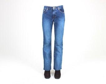 """90s CALVIN KLEIN Bootcut High Waist Medium Blue Wash """"Mom"""" Jeans"""