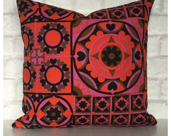 Cushion Cover Vintage 1960s Intarsia Fabric By Susan Dickinson For Heals