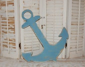Wooden Anchor Sign Wedding Guestbook Alternative Wall Decor Nautical Decor Beach Cottage