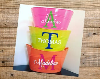 Personalized Bins for Easter/Birthdays/Teacher Gifts/Nurse Gifts/Get Well Gifts/Organization/Playroom/All Occasion Bins/Buckets