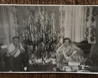 Original Vintage Photograph A Very Tinsel Christmas