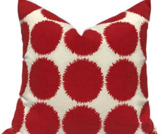 Schumacher Red Fuzz Pillow Cover, Studio Bon Indoor Outdoor Pillow, Red  Fuzz II,
