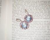 Jane Austen Wedgwood Blue Cameo Earrings: Catherine