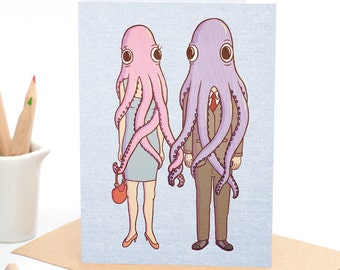 Octopus Love - Greeting card