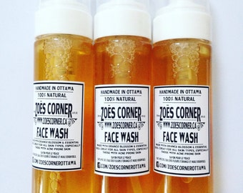 Face Wash -All Natural -Handmade with Orange Blossom Water