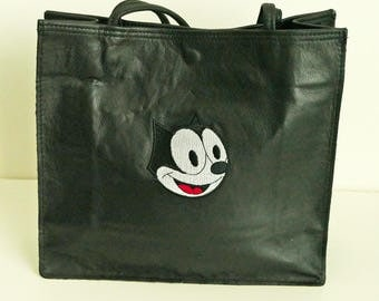 Felix the Cat Soft Leather Tote Bag