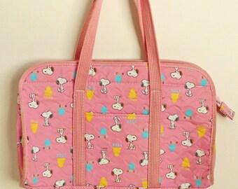 Snoopy Pink Tote Bag