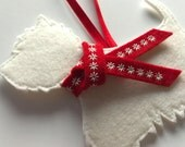 West Highland Terrier Dog Christmas Decoration, tree decoration,  decoration,