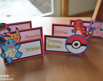 Pokemon-Inspired Place Cards