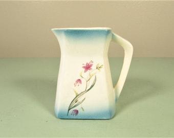 Aqua Flower Pitcher - Vintage Pink Japan Ceramic Creamer