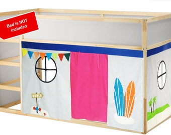 Surf Shack Playhouse // Bed playhouse // Beach Playhouse