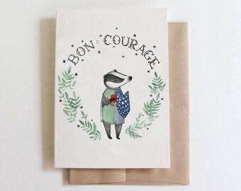 Bon Courage Card